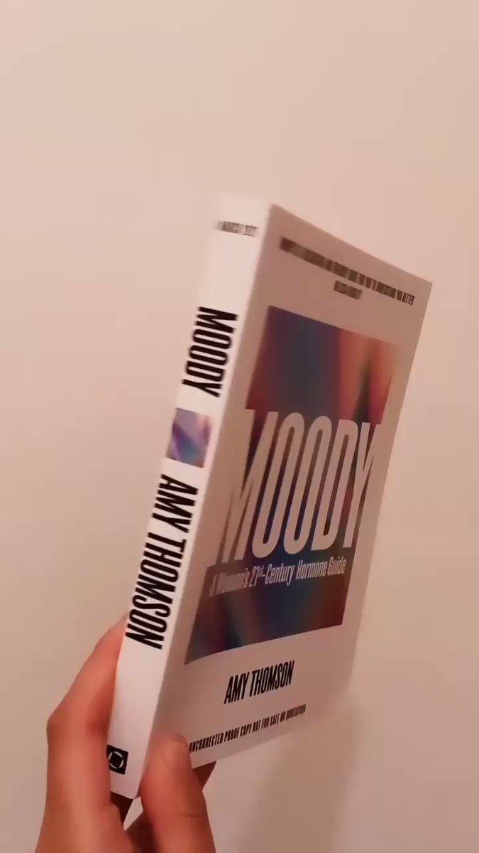 Proofs are in of #MoodyBook from the founder of @moodymonth, @amytstory 💫  A holistic and practical blueprint for understanding your hormones and optimising your life around them, we're very proud to be publishing this at @SquarePegBooks. 🤩  Out March 4th 2021! 🔮