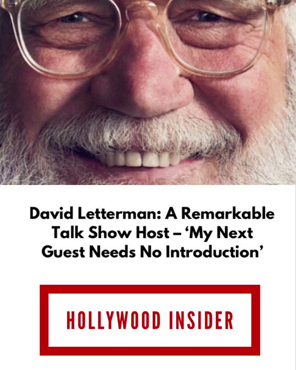 "Read the full article – Click this link  | The title of the article is ""David Letterman: A Remarkable #TalkShow #Host – ' #MyNextGuestNeedsNoIntroduction'"" 