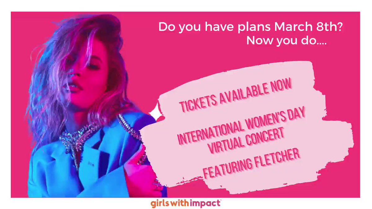 Girls with Impact presents a chance for girls to come together and celebrate each other worldwide on #InternationalWomensDay! On March 8th at 6 PM EST, Girls With Impact will host a #virtualconcert featuring @findingfletcher and a surprise artist! #empowerwomen #girlsgetinspired