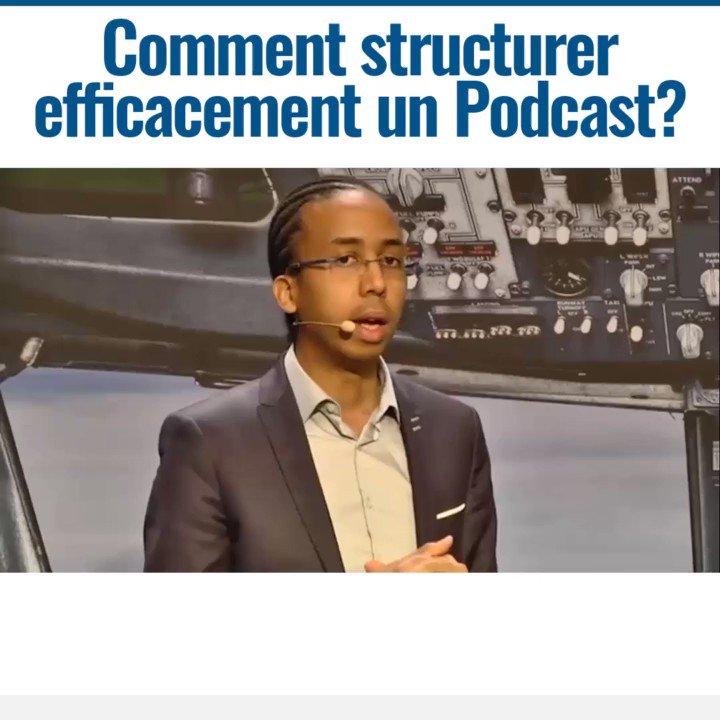 Image for the Tweet beginning: 🎯🎯🎯Comment structurer efficacement un Podcast?🤩  #entrepreneurs