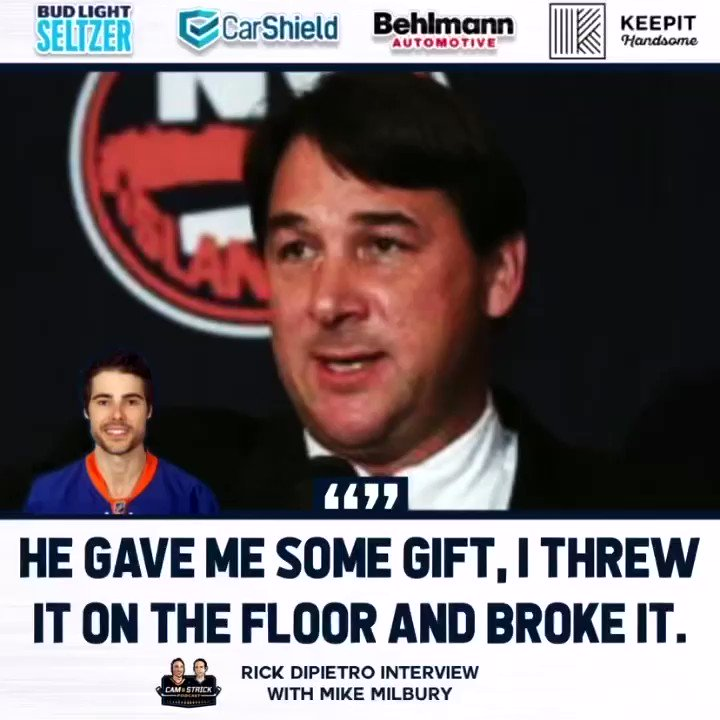 This story from Rick Dipietro about Mike Milbury. 👇👇👇 @camandstrickpod #Isles