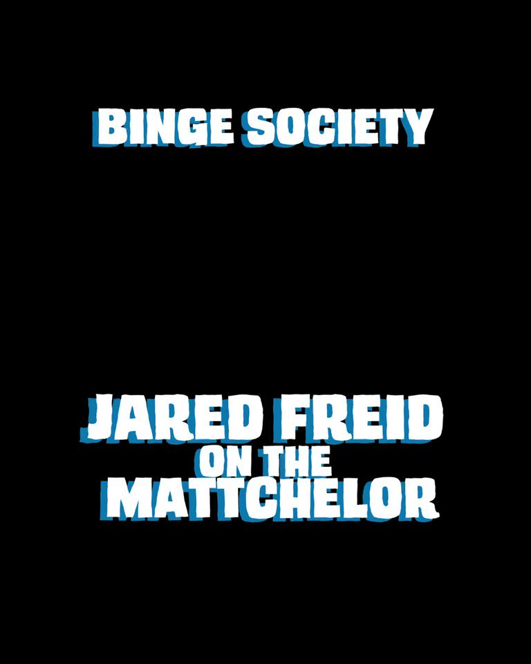 New episode of Binge Society out now where we discuss the new season of @BachelorABC with Jared Freid! Sh*t gets funny! #TheBachelor #Bachelor #bachelorabc #BachelorNation #podcast #podcasts #mattjames