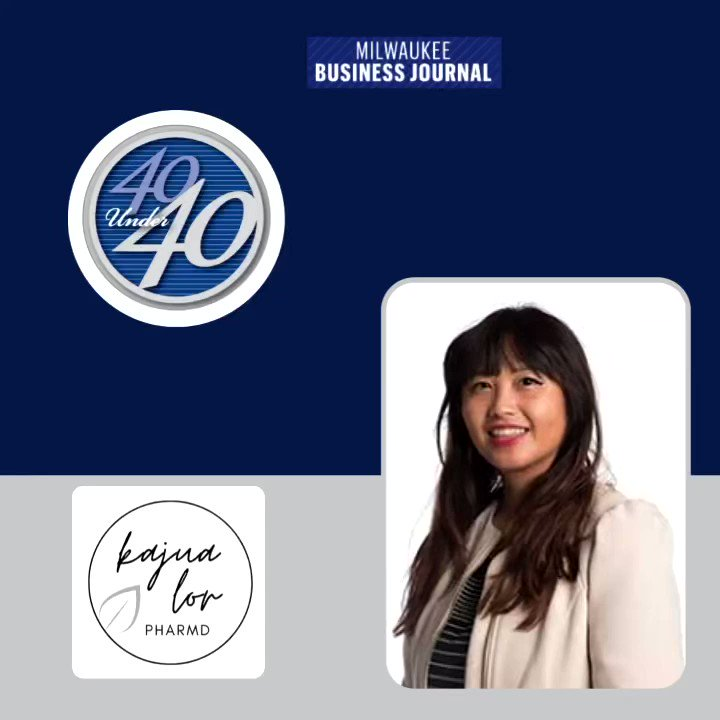 I am humble and proud to be recognized @MKEBizJournal  '40 under 40' award. It is an honor to be alongside 40 honorees of young business and community leaders representing the #future of #community #leadership in Southeastern Wisconsin. Thank you. Ua tsaug. #MBJ40U40