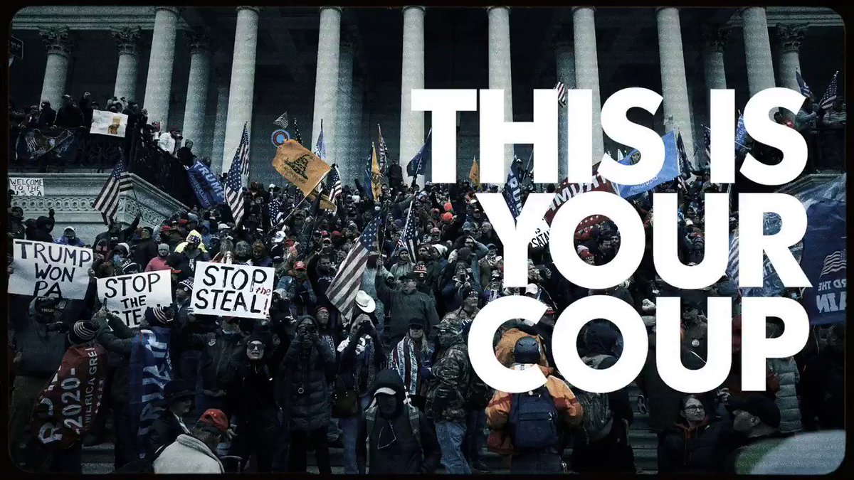 Hey, @GOPLeader:   This is your Coup. This is your Siege. This is your Insurrection.  And you will be held accountable.  #DefundTheGOP