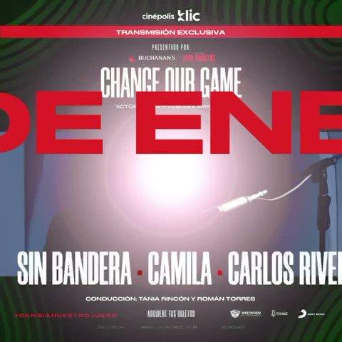 """Ya tenemos un súper plan para este 16 de enero🤩  ¡No te pierdas """"Change Our Game"""" por Cinépolis Klic! 🍿  Aquiete tus boletos 👇🏽"""