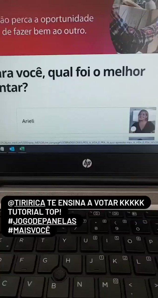 @tiriricanaweb ensinando a votar em no #jogodepanelas #tiririca #MaisVoce