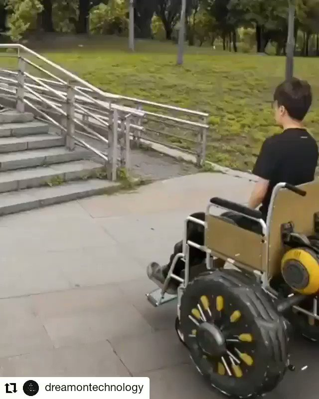 Cool concept, maybe we will see it in use someday! 🎥 @dreamontechnology #invention #creative #innovation #accessibility #wheelchair #FridayMotivation  #goodfriday #BeBest