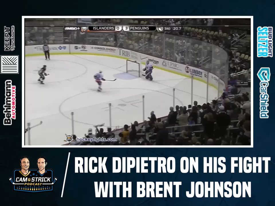 Goalie fights are great, this one was tough to watch. Rick Dipietro gave an unreal interview, full episode avail now! @camandstrickpod