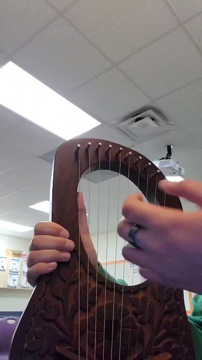 I got a lyre for Christmas so I am very slowly learning how to play it. This isnt perfect but also the instrument only has 10 strings so I had to make Adjustments