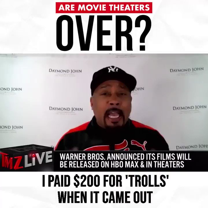 "Streaming services have taken over our ""movie going"" experience since theaters have been closed.  But going to the movies is an experience in itself.. feels different watching a movie on a 40-foot screen than it does at home.  What's your take on this? @TMZLive #FollowTheMoney"