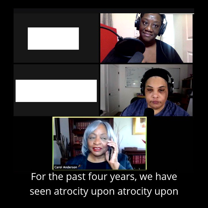 Another new episode, out now. Carol Anderson helps us place this moment in its historical context, and Roxane and Tressie agree: this is not Black people's fight.   Listen here: