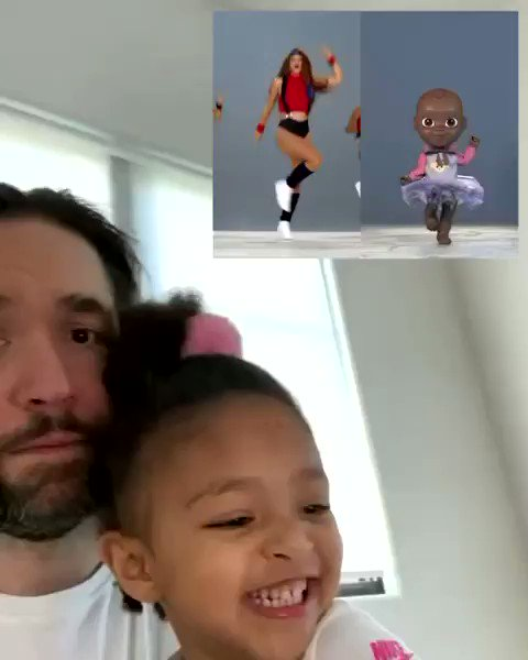 Not sure if @olympiaohanian fully understands the @realqaiqai phenomenon, but she sure does love the dance videos. Thanks, @shakira, for the fantastic collaboration.