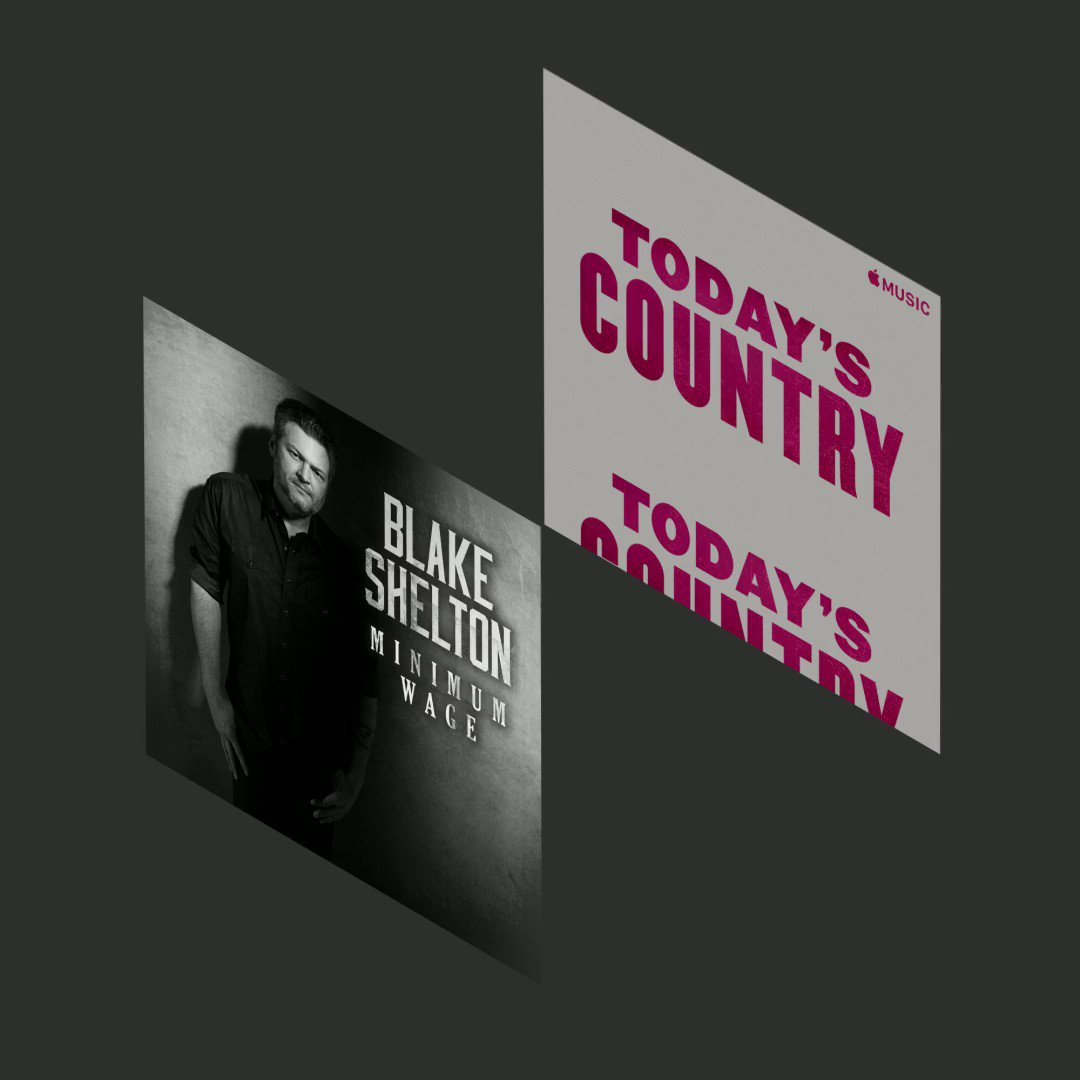 Thanks @AppleMusic fam!!!!! Y'all go listen to #MinimumWage on #TodaysCountry… Do itttt!!!