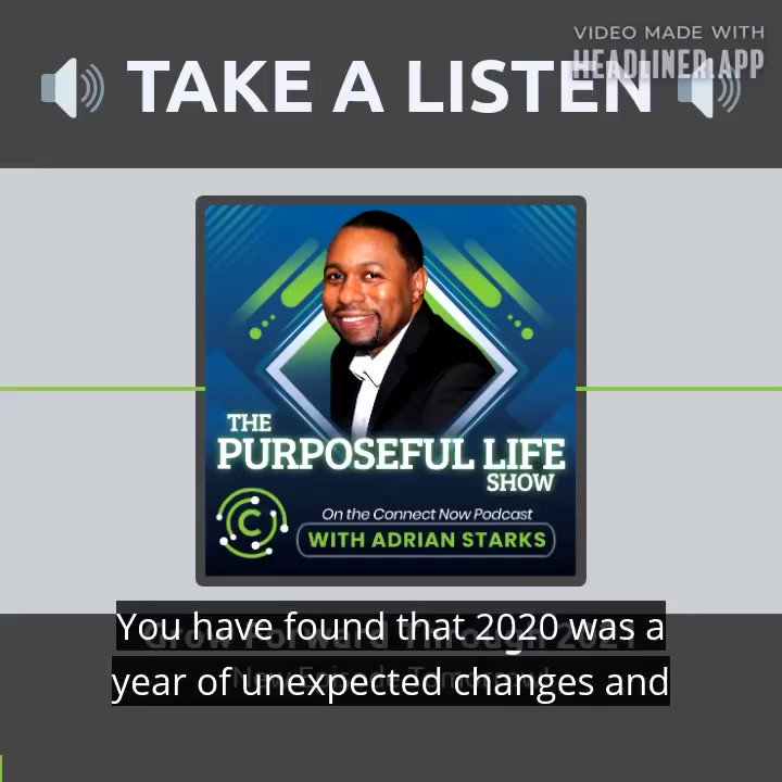 Sound on 🔊   Check out this short clip from my upcoming episode, Grow Forward Through 2021.   Click here👉   Download the Purposeful Life Show on your favorite podcast platform. Turn on your notification bell 🛎   #podcast #Mindset #change #adrianstarks