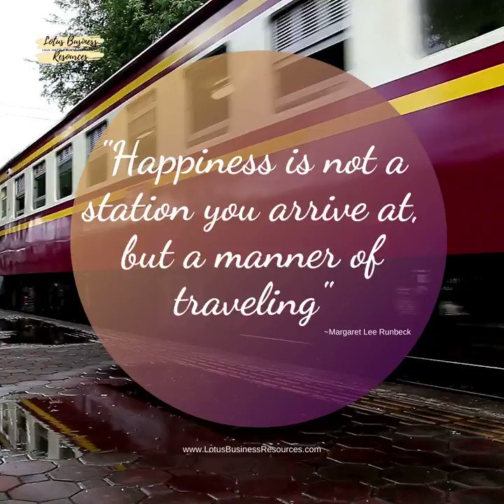 """""""Happiness is not a station you arrive at, but a manner of traveling"""" ~Margaret Lee Runbeck      #safetravels #travelhappy #happiness #trainstation #ridingatrain #traintrip #travelbytrain #arrivehappy #arrivesafe #FridayThoughts"""