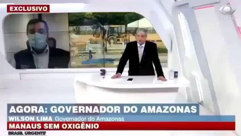"""- Governador do Amazonas: """"a ajuda do Governo Federal tem sido imprescindível nesse momento de luta pela vida."""" @govbr   . Link no YouTube:"""