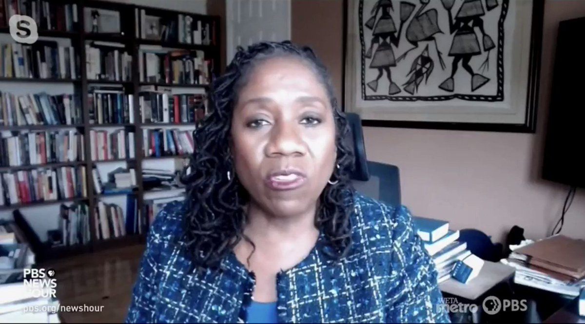WATCH: @Sifill_LDF calls out the misguidedness of the white inward gaze that has dominated media when Black communities are actually at a much better vantage from which to understand American democracy.