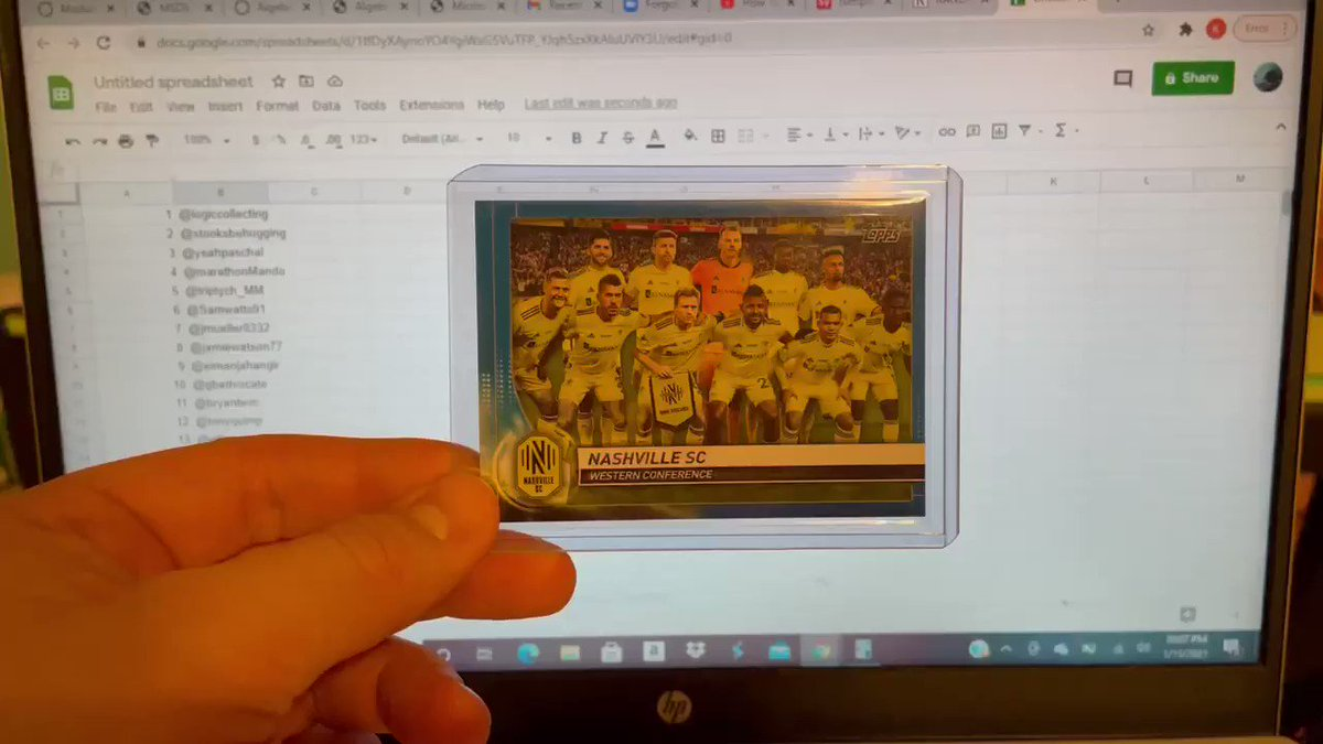 🚨 We have a winner!!!🚨                           Congratulations to @henry_something who is the proud new owner of the first ever Nashville SC team picture card! Thank you to everyone for participating! #EveryoneN