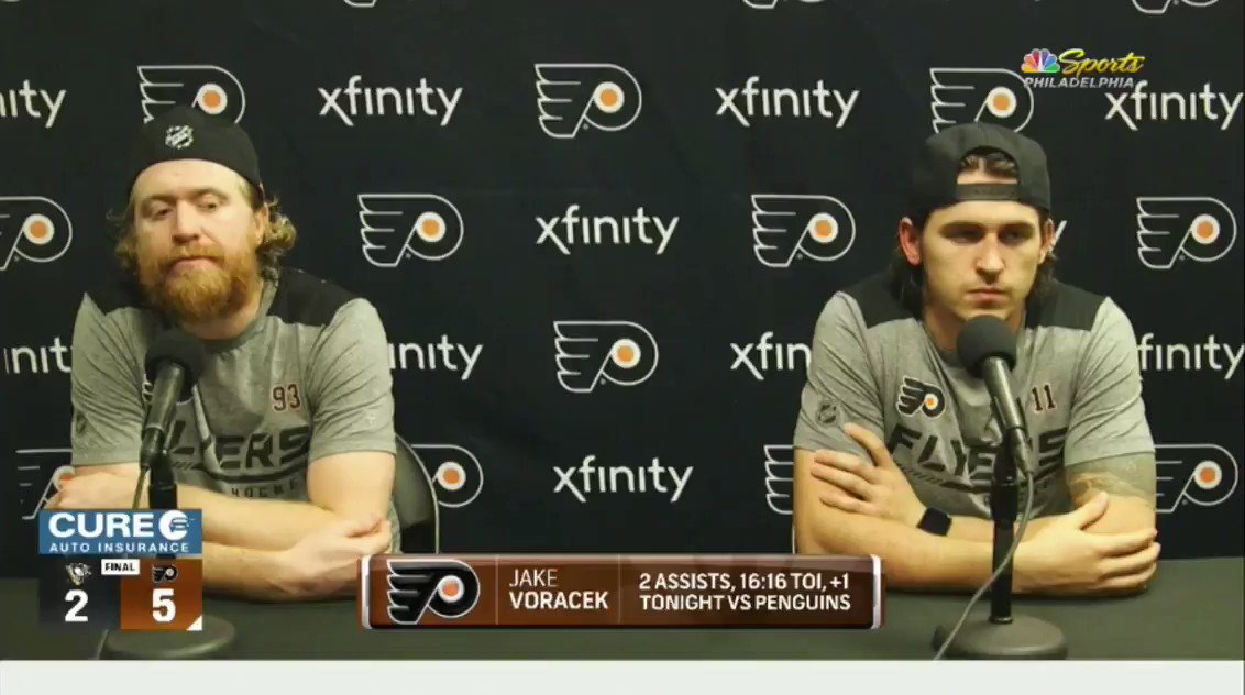 Jake Voracek was not having any of this post-game question