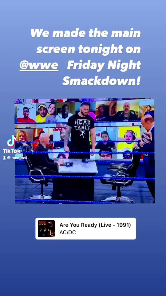 Fer and I made the @WWE #smackdown #VirtualFanScreen @WWEThunderDome