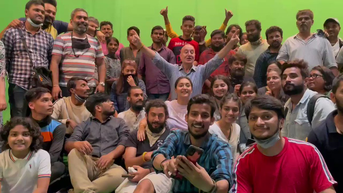 It is a WRAP for #TheKashmirFiles. Gut wrenching, sad & truthful experience. A true story that waited for 30 years to be told! Thank you @vivekagnihotri  #PallaviJoshi for making this film. Thank you cast & the crew for your love & dedication. Jai Ho!!🙏 #Exodus #KashmiriPandits
