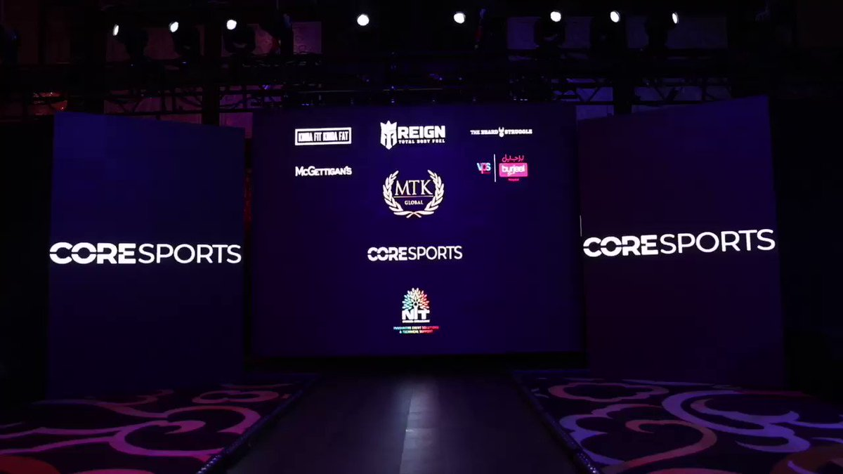 "In cooperation with the Dubai Sports Council, ""core sports"" organized the ""coresports Fight Night"" with the participation of a variety of different nationalities."
