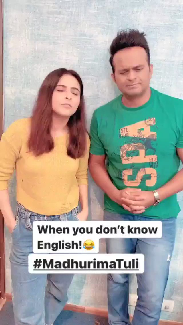 When you don't know English😭🤪 ft. @MadhurimaTuli19  #SiddharthKannan #SidK #madhurimatuli #comedy #laughter #funny #funniestmemes #memes #Bollywood