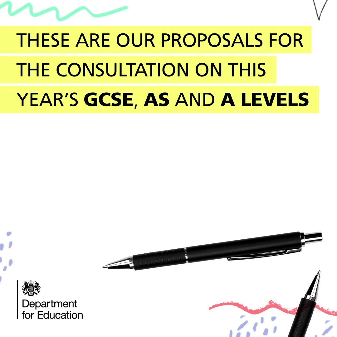 We've launched a consultation with @ofqual on how this year's GCSEs, AS and A levels should be awarded.  We'd like to hear from students, parents, employers and those working in education.  Find out more: