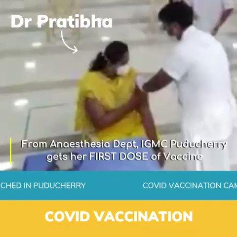 #COVID19Vaccination takes off in Puducherry. 😇🙏👏 @PMOIndia @MoHFW_INDIA @icmr_nie @BhallaAjay26 @PIB_India @ANI @AshwaniKumar_92
