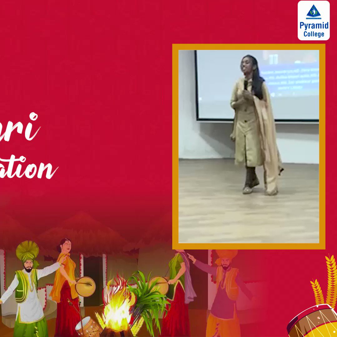#Glimpses of Lohri Celebration at #Pyramid College of Business & Technology - PCBT.  #PyramidCollege #PCBT #success #Students #events  #festival #celebrations #Bestwishes #Lohri2021 #lohricelebration #festivevibes #bonfire
