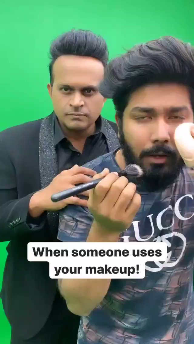 When someone uses your makeup!😂   Tag those beauty queens! 🌚😛  #SiddharthKannan #SidK #comedy #funny #memes #makeupqueen #trending #funnyvideos #funnymemes #Bollywood