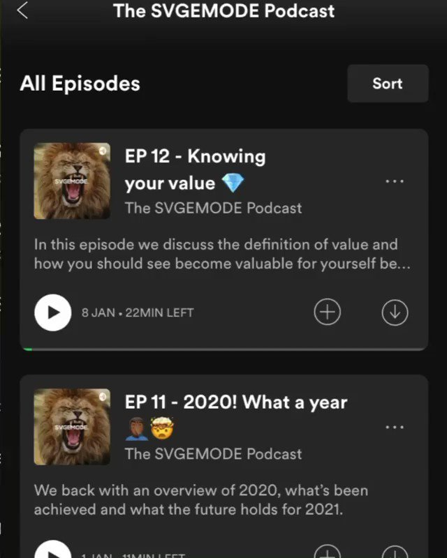 🚨Episode 13 of the SVGEMODE podcast out now.  🎙Listen now! -   📍Follow us on insta @svgemodeworld   #SaturdayMorning #SaturdayMotivation #SaturdayThoughts #podcast #newepisode #NewPost