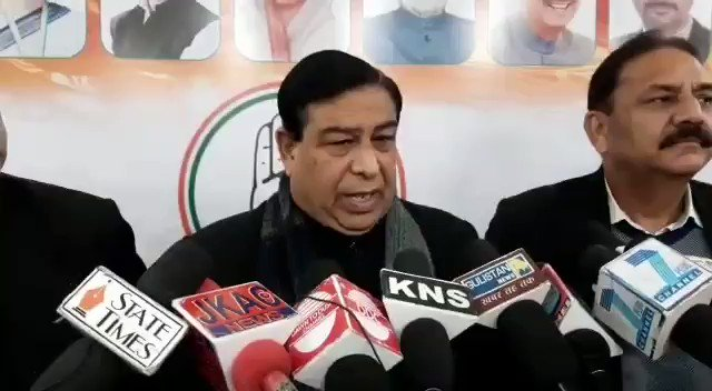 Watch* @KNSKashmir Ravinder Sharma (Spokesperson Congress Party) questions the reservation policy of the Govt for DDC candidates,  #KNS correspondent Jammu