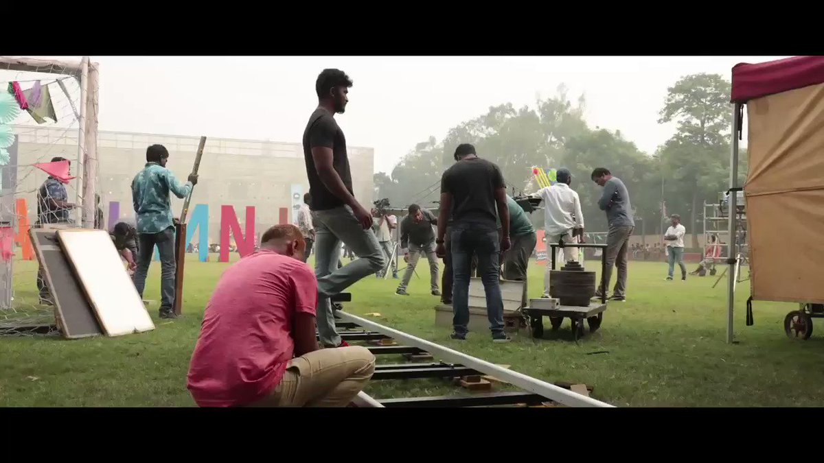 You must have enjoyed the action scenes in Master! But here's a glimpse into what happened during 'Take. . . Action!' 🎥  Behind the scenes of master! 🤜🏻🤛🏻   #MasterPongal #Master #MasterBTS