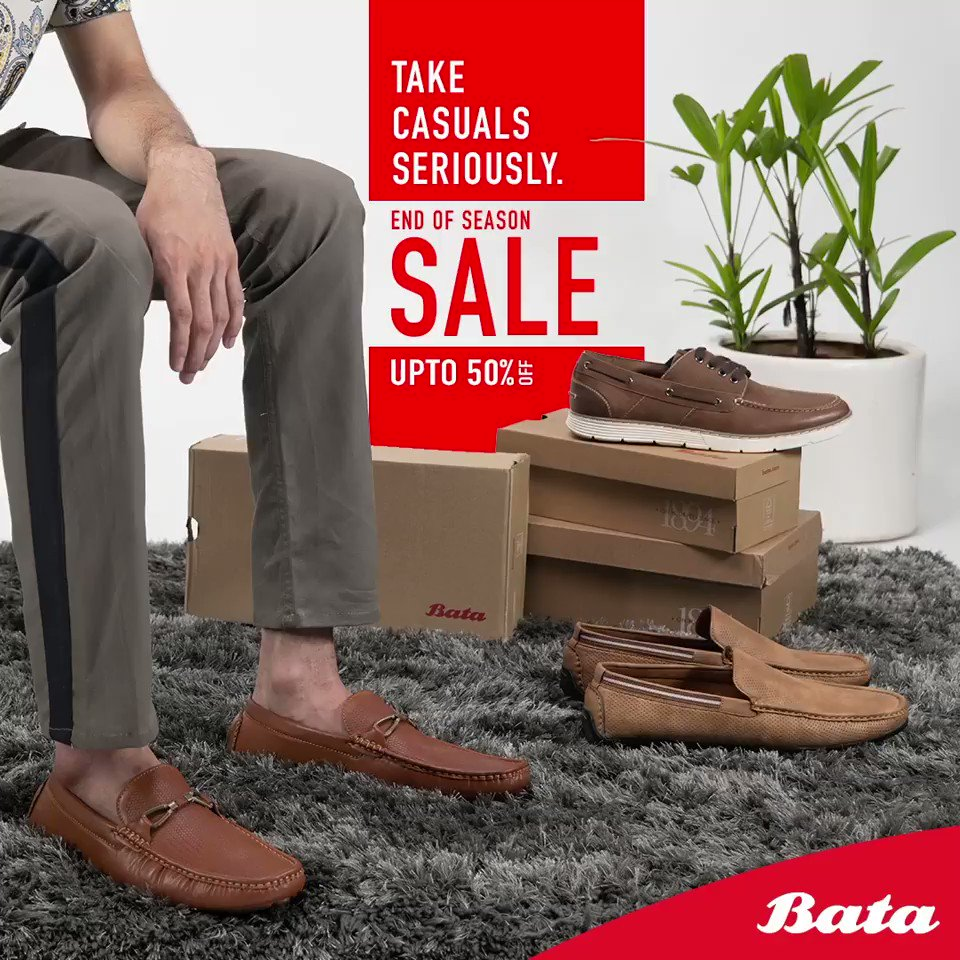 Casually speaking, Bata's End of Season Sale is going to blow your mind! Smart and sturdy casual shoes are at upto 50% off! Shop today from  or Bata stores.#BataEndOfSeasonSale#EndOfSeasonSale#Eoss#LatestStyles#ShopNow
