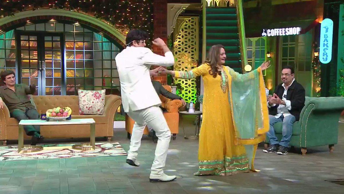 This weekend join #RajBabbar, #JayaPrada, #GurpreetGuggi, #IhanaDhillon, #KCBokadia and #PappuKhanna with Kapil Sharma for a laughter filled show!  #TheKapilSharmaShow Sat-Sun at 21:00 (UK) on #SonyTVUK  @sonytvuk