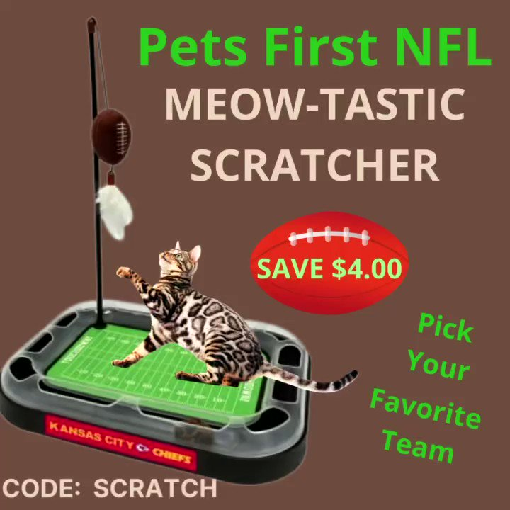 Happy CATurday!  Let Your Kitty Tear into your Favorite Team OR Destroy Your Opponent!  SAVE $4.00 on Pets First NFL Cat Scratcher!    @catsofinstagram @CatsOfTwitt3r #Caturday #Cat #CatsOnTwitter #CatsOfTwitter #PetsOfTwitter #satchat #SaturdayMorning #pet