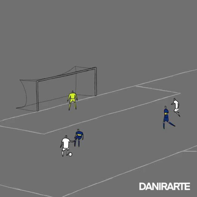 Os gols da classificação santista na animação do artista @danirarte! ⚪⚫