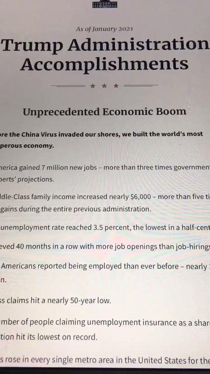 President Trump's accomplishments in 4 years.    #SaturdayMorning #SaturdayThoughts #MAGA