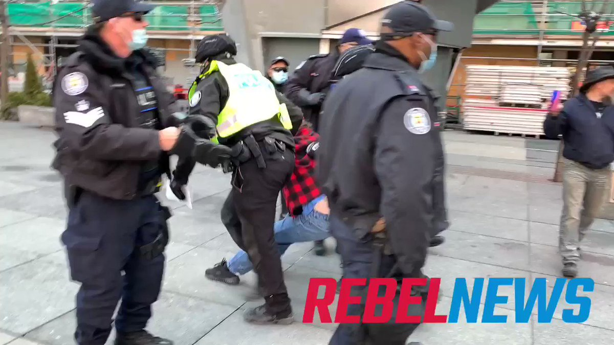 Toronto police are arresting anti-lockdown protesters one by one.  If you have received a COVID fine go to
