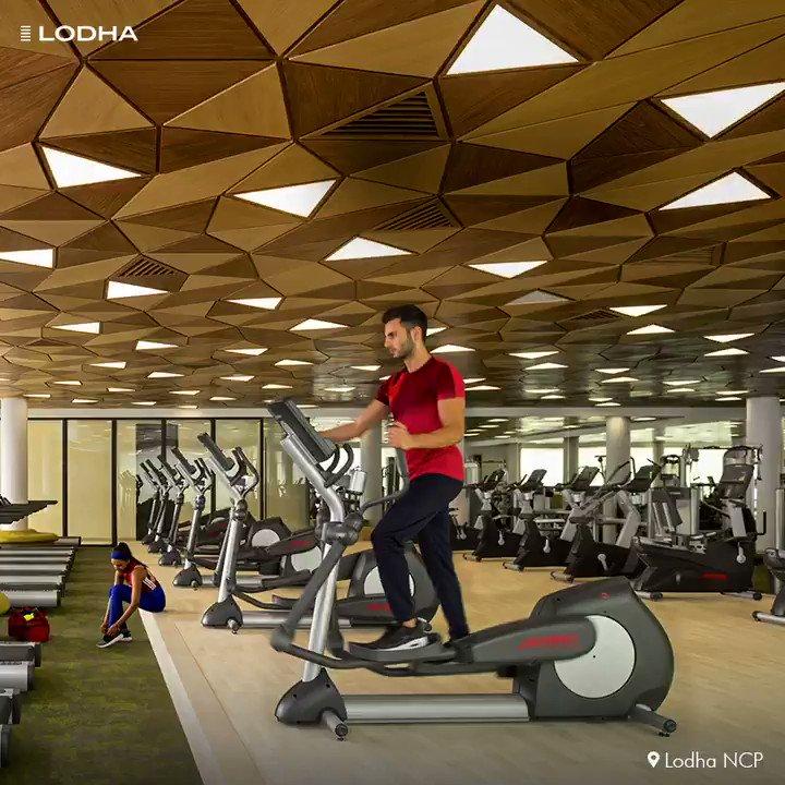 When #ApnaGhar has the finest amenities, you live the healthiest life.  #BuildingABetterLife #WorldsFinestDevelopments   #Gym #Fitness #Workout #LodhaNCP #TheWorldTowers
