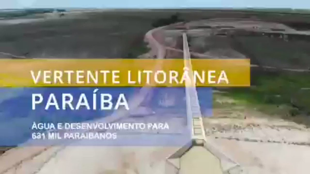 - VERTENTE LITORÂNEA PARAÍBA.   - Água para 600 mil nordestinos.  - Ministro @rogeriosmarinho  . - @govbr @jairbolsonaro . . @mdregional_br .
