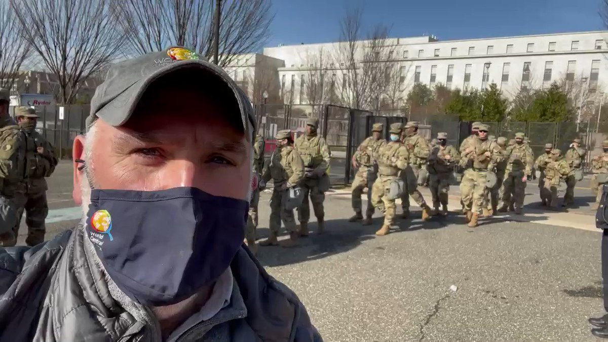.@chefjoseandres reporting in from the US Capitol where the WCK team is serving fresh meals to the National Guard and other first responders! We are grateful for their service 🙏 and proud to do our small part. #ChefsForDC