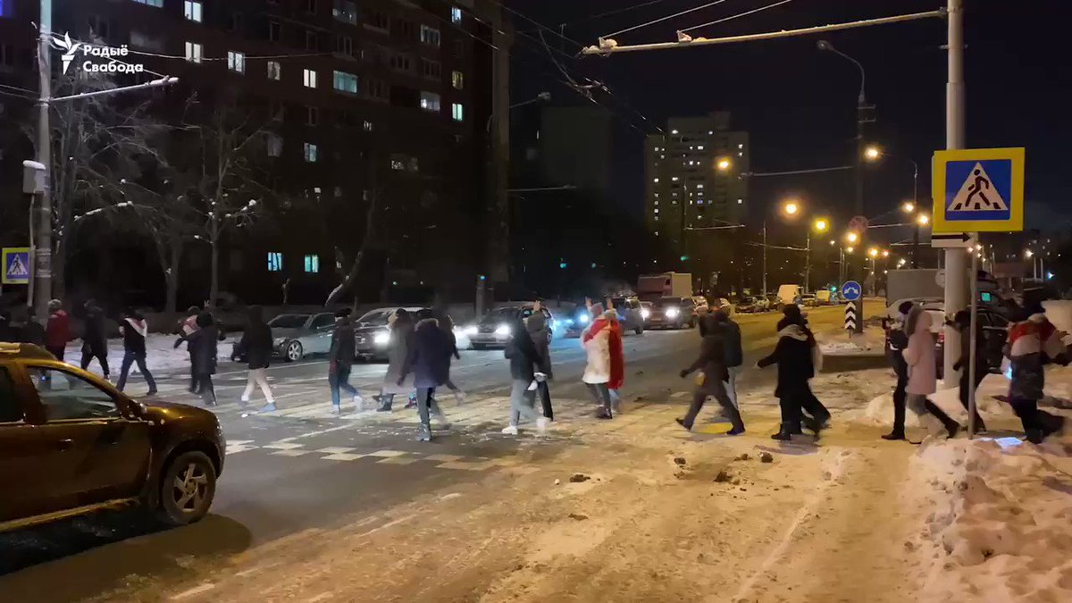 I can't stop admiring Belarusians. It's -25c degrees. It doesn't stop people from protesting. Every day — they gather in different parts of Belarus and rally against the dictator. They protest despite mass arrests and threats. With such brave citizens, we will prevail.