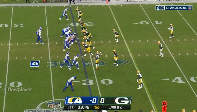 #LARvsGB  #Packers #PackerNation #RamsHouse  3rd and 6, acks stop them