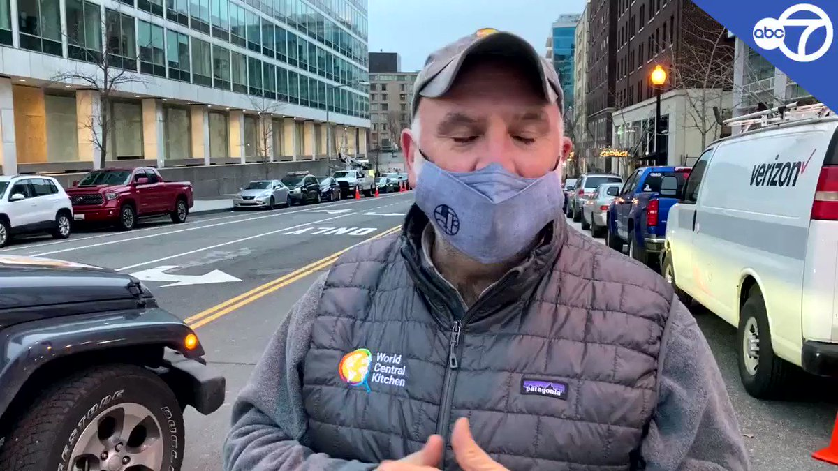 """""""Especially at night, everything is shut down in D.C. very much between COVID and the curfews and the impossibility to move around, we are making sure everybody has access to food."""" - @chefjoseandres   MORE:"""