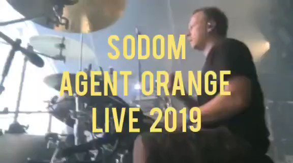 """SODOM - """"AGENT ORANGE"""" LIVE 2019  These guys don't get the credit they deserve. All these years and still killing it!  Like or dislike this band?  @sodomized #sodom #metal #thrashmetal #heavymetal #deathmetal #deaththrash #speedmetal #classicmetal #extrememetal #moshpit"""