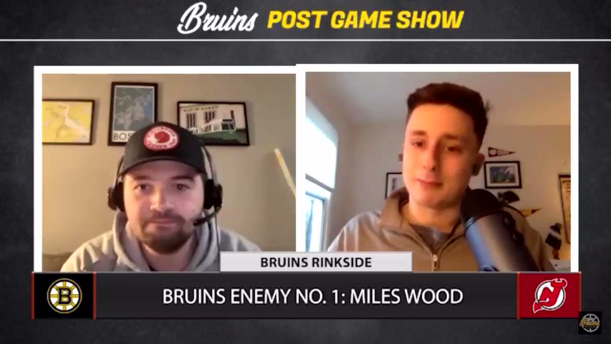 🎥MILES WOOD MANIA🎥  Miles Wood has quickly become a top villain for the #NHLBruins. @ConorRyan_93 and @emarinofsky discussed what this means going forward.   ⚡️: @betonline_ag   WATCH: