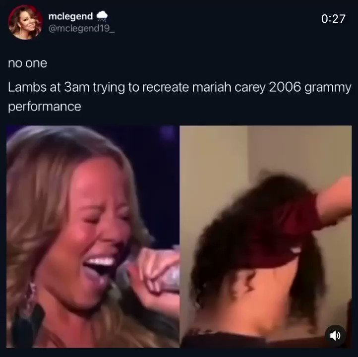 Thank U for this moment it put a smile on my face watching this!! @mclegend19_  this was a moment DHALINGS!! #Lambily #MariahCarey