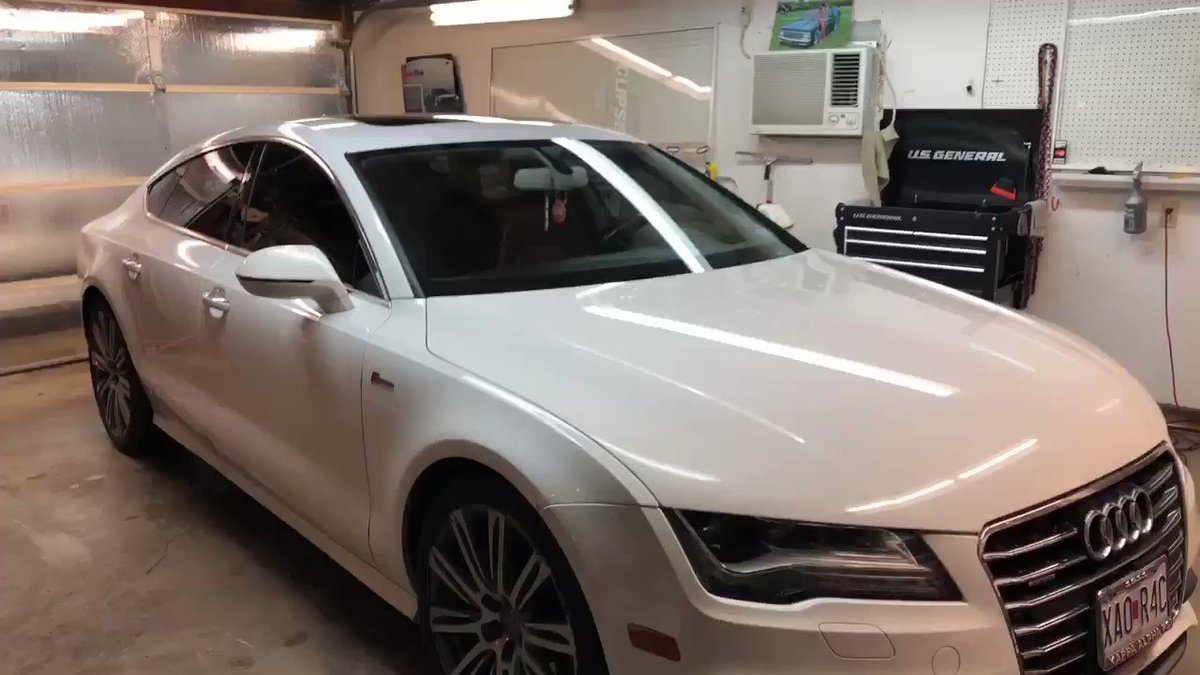 Image for the Tweet beginning: 2014 Audi A7 full tint